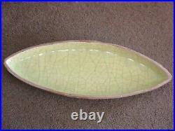 Mid Century Modern BARBARA WILLIS Art Pottery Canoe Shaped Center Piece