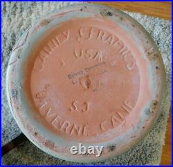 Mid Century Modern Large Cylinder Planter Gainey Ceramics CA Sage/Teal Green