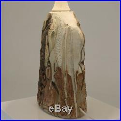 Midcentury Bernard Rooke Studio Pottery Table Lamp Ceramic Stoneware 1960s Retro
