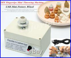 Mini Electric Pottery Wheel Ceramic Work Clay Art Craft Production Machine USA