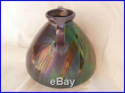 Montieres, French Art Deco Iridescent Ceramic Vase, Signed, 1930 Years
