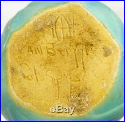 NEAR MINT Vintage 1930s Van Briggle Art Pottery Onion Bulb Vase Turquoise