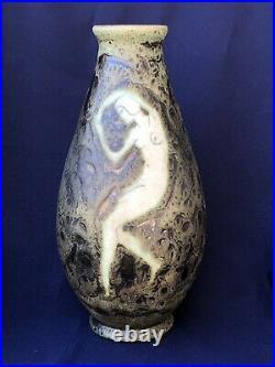 NICE Art Deco VASE PRIMAVERA FRANCE Sainte Radegonde Ceramique RARE Buthaud