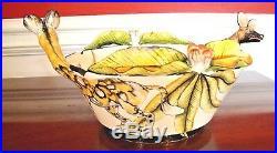 NWT $1.2K ARDMORE CERAMIC BOWL Wild Dog Jackal, FINE CERAMIC ART, Original SALE