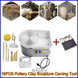 New 25CM 350W Electric Pottery Wheel Machine Ceramic Work Clay Art Craft Molding