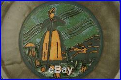 ODETTA HB QUIMPER -PLAT A GATEAU ART DECO EN CERAMIQUE, ceramic vintage, pottery