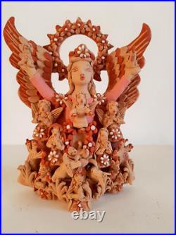Oaxacan ceramic great master Angelica Vasquez 2 Mexican folk art Nativity Angel