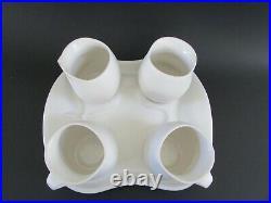 Peter Saenger White Studio Art Pottery Biomorphic Captain Picard's Tea Set