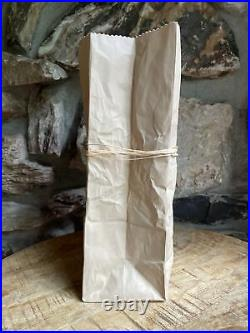 RARE #14 Ceramic Pop Art vase Michael Harvey Brown Paper Bag Ceramic Vase
