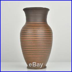 RARE Bauhaus Pottery Vase by Otto Lindig German Art Deco Ceramic Signed