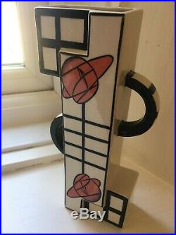 RARE Signed Lorna Bailey VASE 24cm Old Ellgreabe Pottery Ceramic Art Deco