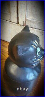 RARE Vintage McCoy COALBY Black Cat Cookie Jar