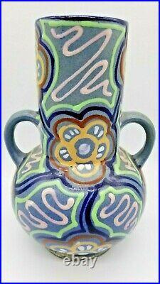Rare 1920's Gebauer / Neumann German Art Deco Vase Ceramic Pottery Free Ship