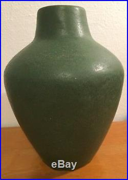 Rare Antique Van Briggle Pottery Vase Matt Green Shape 320 Arts & Crafts Mission