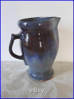 Rare Axel Ebring Premier Studio Art Pottery Pitcher Jug British Columbia Canada