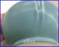 Rare Large Rookwood 1919 Blue Tulip Vase Pot Handles Vtg Art Pottery American