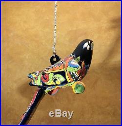 Rare Large Talavera Parrot Bird Tropical Mexican Pottery Ceramic Folk Art 29