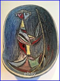 Rare Marcello Fantoni Ceramic Studio Bowl Master Potter European Signed Italy