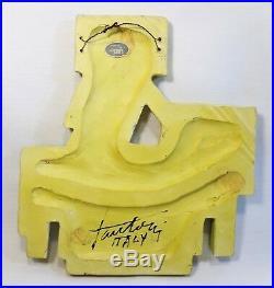 Rare Marcello Fantoni (italy) Modernist Caveman Series Ceramic Fig. Wall Plaque