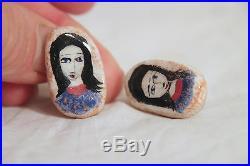 Rare POLIA PILLIN Pair of Earrings - California Studio Art Pottery