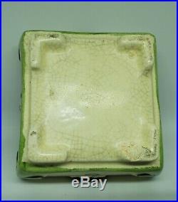 Rare Roseville Ceramic Design Creamware Two Piece Art Deco Flower Planter Vase