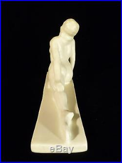 Rare Signed Reba Rookwood Pasadena California Art Deco Pottery Nude Circa 1940