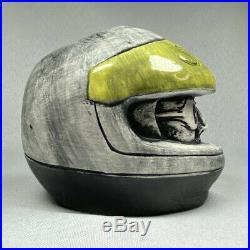 Rare TIKI DIABLO COCKTAIL MUG Steve Saleen Helmet Ford Mustang Cup Pottery Art
