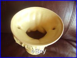 Rare! Vintage Original Nelson Mccoy Leafy Art Pottery Yellow Vase. L@@k