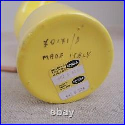 Raymor Postmodern Yellow Tube Vase Alvino Bagni Tubo Italy Ceramic Memphis MCM