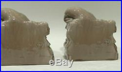 Rookwood Art Pottery Ceramic Rooks Bookends Pair in Mint Condition