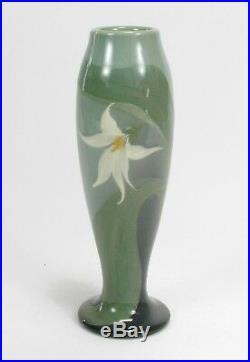 Rookwood Pottery Rose Fechheimer 1904 iris glaze 8.5 lily vase arts & crafts