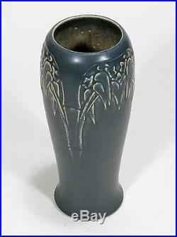 Rookwood Pottery production bamboo 10 vase arts & crafts blue w tan