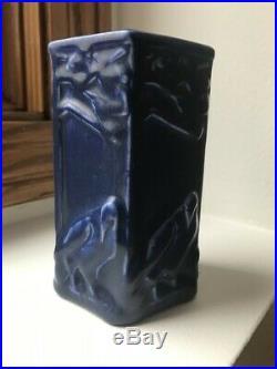 Rookwood XXIV Crow Vase #1795 Cobalt Blue Art Pottery 1924