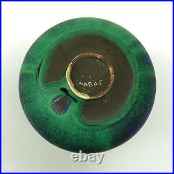 Rose Cabat studio pottery feelie vase mid century modern ceramics green blue