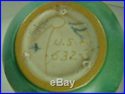 Roseville Antique ART Pottery Pinecone Pine Cone Jardiniere Vase 632 3 Green