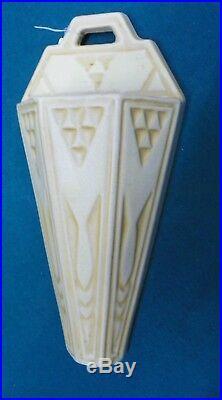 Roseville Antique Old Ivory Ceramic design Wall Pocket Arts & Crafts 10