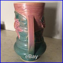 Roseville Art Pottery Pink Water Lily Vase 76-8