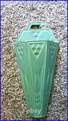 Roseville Ceramic Design Wall Pocket Mat Green # 1203