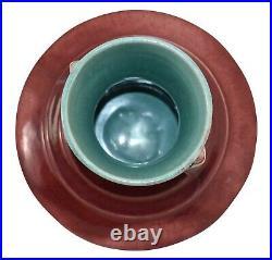 Roseville Pottery Orian Red Art Deco Ceramic Vase 737-7