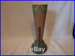 Roseville art deco futura vase, 12 tall in excellent condition