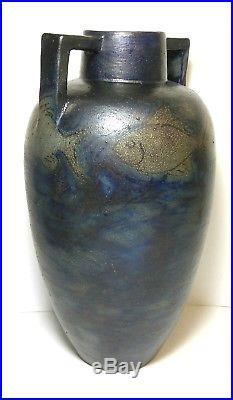 Russell Crook Fish Motif Arts & Crafts Pottery Stoneware Vase Grueby Interest