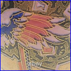 STUNNING ART DECO CROWN DEVON GILT PARROT VASE c. 1930's PERFECT