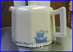 Scarce Rookwood Pottery Art Deco Blue Ship Teapot Shipware