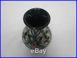 Signed William Moorcroft Snakehead 6 1/4 Art Pottery Vase Excellent Condition