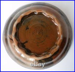 Spectacular JOHN GLICK studio ART POTTERY BOWL Plum Tree Abstract Expressionist