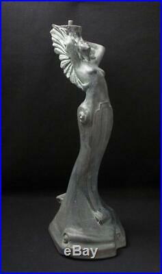 Stephen Glassborow Australian Ceramic Pottery Lamp Base Sculpture Art Deco Lady