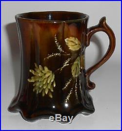 Stockton Art Pottery Standard Glaze Floral Decorated Mug