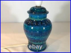 Stunning Bitossi Rimini Blue Table Lamp. Quality Aldo Londi Piece. Mint Condition