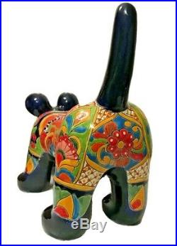 Talavera Dog XXL Mexican Pottery Life- Size Animal Ceramic Figure Folk Art