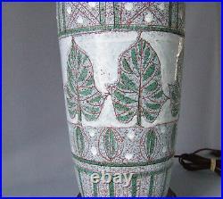 Tall Italian Art Pottery Ceramic Table Lamp Mid Century Modern FF Raymor Bitossi
